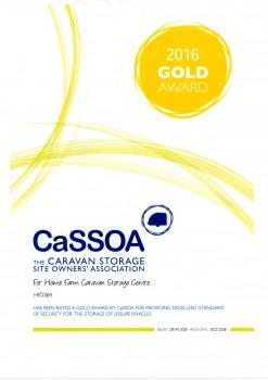 29.04.16 CaSSOA 'Gold' Certification
